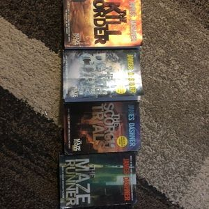 Maze runner books $15 for the 4 books